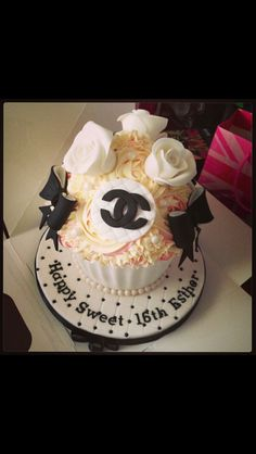 My coco chanel inspired birthday cake