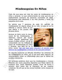 Miodesopsias en Niños Como Tratarlas
