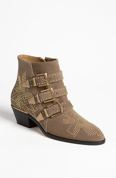Chloé 'Suzanne' Stud Buckle Bootie available at #Nordstrom