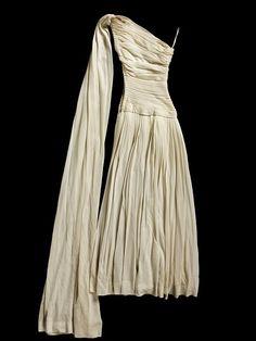 Miniature Evening Ensemble, Silk jersey, hand and machine sewn, Paris, France, 1950