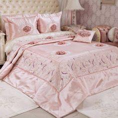 Bakkaloğlu Tekstil Sakarya Adapazarı Ev Tekstili Ürünleri Dekorasyon Aksesuar Masa Örtüsü Yastık Kılıfı Nevresim Kılıfı Yatak Örtüsü Uyku SetiYatak Örtüleri Vinaldi Antik Rose Yatak Örtüsü Pudra