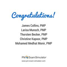 Congratulations to our students who passed the PMP exam! #PMP