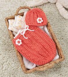 Free Crochet Pattern: Just Peachie Cocoon Set