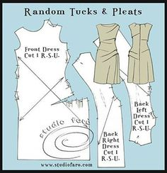 Studio Faro Pattern Puzzle, Random Tucks and Pleats. Join us on Saturday. Starting EARLY this week. :) https://www.facebook.com/events/1649058065329992/?ref=3&action_history=null&utm_content=buffer37fae&utm_medium=social&utm_source=pinterest.com&utm_campaign=buffer #PatternPuzzle