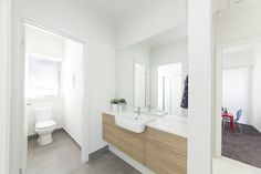 Streeton 175 - Sarah Homes Home Trends, House Design, Home, Portable House, Building A House, New Homes, Caroma, Display Homes, Renovations