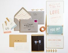 Marissa + Mike's Whimsical Silhouette Wedding Invitations, Design: Lilly & Louise, Photo Credits: Cara Robbins