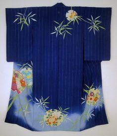 Taisho Indigo Houmongi kimono