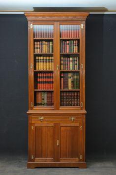 Late Victorian Walnut Bookcase. c1890