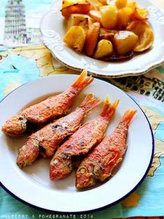 Fried Barbounia (Μπαρμπούνια τηγανητά)