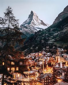 While the Matterhorn may not be the tallest mountain or hardest to climb in the Alps, there's something about its classic structure that keeps attracting people back to this tiny village to see it for themselves. Oh The Places You'll Go, Places To Travel, Places To Visit, Zermatt, Bangkok, Destinations, Beautiful Places, Beautiful World, Travel Aesthetic