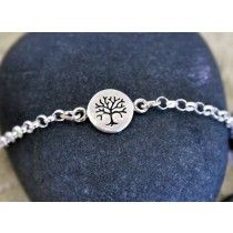 Tree of LIfe Sterling Silver Chain Bracelet