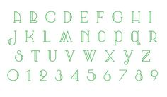 Arts & Crafts + Art Deco = this lovely font