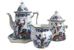 Antique Staffordshire Tea Set, 4 Pcs on OneKingsLane.com
