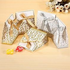100x #silver or gold wedding favour favor #sweet cake gift candy #anniversary box,  View more on the LINK: 	http://www.zeppy.io/product/gb/2/371570004505/