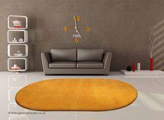 Home Comfort Plain Pumpkin Oval Wool Rug Oval Rugs, Tapis Design, Rug Texture, Bleu Turquoise, Home Comforts, Hand Tufted Rugs, Orange Rugs, Fashion Sale, Modern Rugs