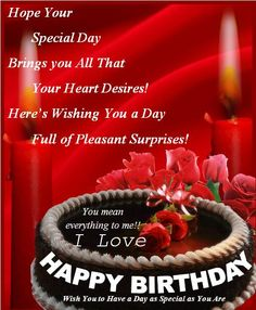 Birthday Wishes For Husband Images Messages And