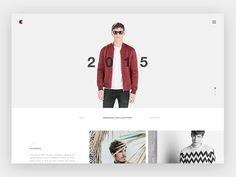 Fashion Website UI by Matteo Pasuto
