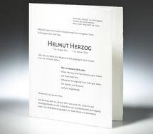 Bütten Trauerbriefe online drucken † Memento Trauerbriefe