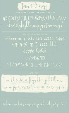 Jane Bugg Font