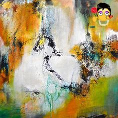 Inspired by music and dance, this gestural expressionistic piece represents #contemporary abstraction. The painting is on a gallery wrapped canvas with finished ...