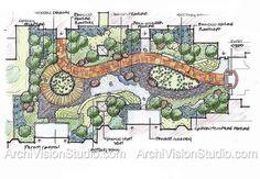 Image detail for -driveway landscaping ideas | Landscape Rendering