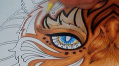 Inky eye coloring (Tiger-Magical Jungle)
