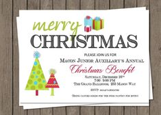 DIY PRINTABLE Christmas Party Invitation| Christmas Benefit | Office Party | Class Party | Church Party | Any Christmas Party by PerfectedbyGrace on Etsy
