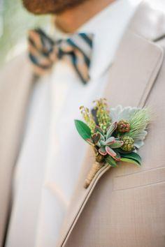 groom boutonniere - photo by Erin J Saldana Photography…