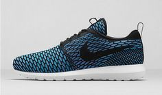 Official Price Nike Roshe Run Flyknit Black Neo Turquoise Shoes