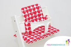 HERZ byGraziela Designer Kissenset für Tripp Trapp von FRAU FARBENFROH auf DaWanda.com