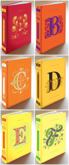 Typography :: Illustrated Alphabetic Drop Cap Covers of Literary Classics by Jessica Hische