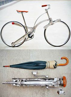 Hubless Sada Bike Can Be Folded to the Size of an Umbrella.