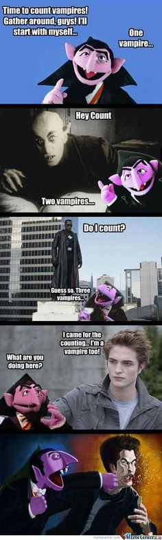 """The Count yells """"Real vampires DON'T sparkle!"""""""