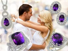 In addition to being the birthstone for February, Amethyst is the gem which symbolizes the 6th wedding anniversary. Buy, wear & give Amethyst Jewelry to mark both these occasions.