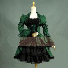 Verano de las mujeres Señoras del partido de Tarde del vendaje de encaje Con Volantes gothic lolita vestido victoriano vestido lolita manga de Conexión traje