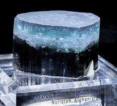 "Large ""Blue Cap"" Indicolite Tourmaline Fine Mineral Specimen from Afghanistan"