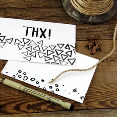 For all those amazing gifts we just received ~ an extra thank you is always sweetly unexpected. I just put these brush lettered thank you notes up in the shop for such a surprise. A set of 12 for $10.