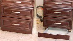 Make a secret TOEKICK drawer for about $30  http://tradewindtiaras.blogspot.com/2012/01/kitchen-renovation-how-to-make-secret.html