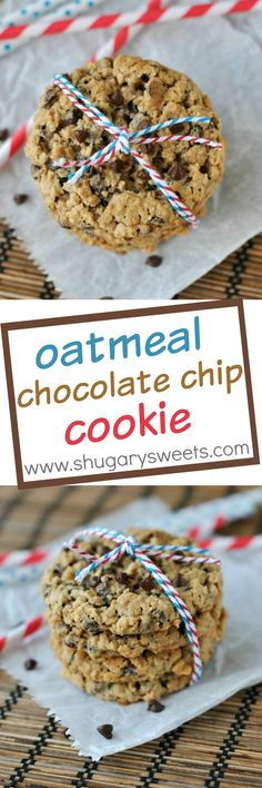 No mistaking these Oatmeal Chocolate Chip Cookies for raisins. This cookie is loaded with mini chocolate morsels!