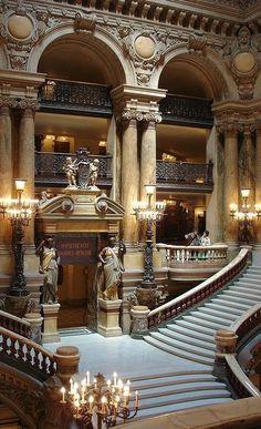 Escalera, la Ópera de París, la Ópera Garnier.