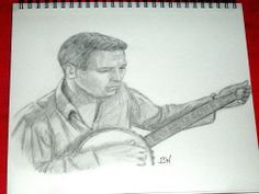 PAUL NEWMAN/PENCIL DRAWING SIGNED BY ARTIST   BW