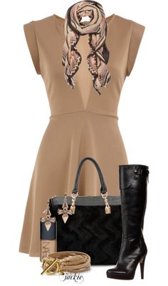 """Pop the Nude Dress"" by jackie22 ❤ liked on Polyvore"