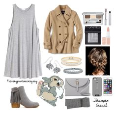 """Thumper Casual Fall"" by disneyfashioneveryday ❤ liked on Polyvore featuring Disney, H&M, Lands' End, T. LeClerc, Clinique, NARS Cosmetics, Rimmel, Halcyon Days, Natures Jewelry and Meli Melo"