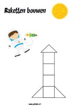 raket bouwen blokken kinderboekenweek kleuters