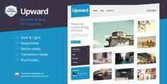 Upward - Experimental Portfolio & Blog WordPress Theme by StrictThemes The Upward WordPress theme is an original choice for showcasing artwork and illustrations with style and balance. The Upward Them