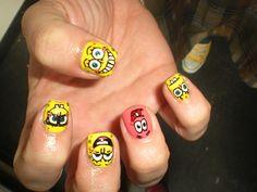 spongebob and patrick nails