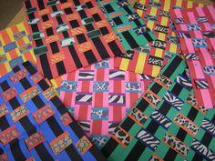 african folk art kente cloth - 3rd grade