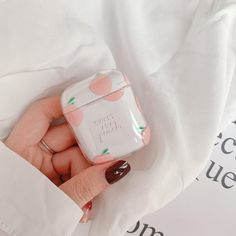 Fruit Transparent Case for Airpods Lovely Sweet Peach Pinky Cherry Perfect Design for Apple Bluetooth Earphone Case Cute Cases, Cute Phone Cases, Iphone Cases, Accessoires Iphone, Aesthetic Phone Case, Earphone Case, Air Pods, Just Peachy, Airpod Case