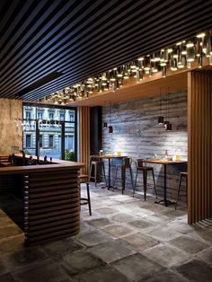 The Beautiful Temple House Restaurant Is A Dream Come True Bar Interior Design, Cafe Interior, Cafe Design, House Design, Lobby Interior, Patio Design, Bar Deco, Design Bar Restaurant, House Restaurant
