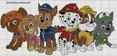 Paw patrol plastic canvas patterns toys figures clothes skye birthday gifts everest toy marshall zuma vehicles games ideas chase truck tracker new slippers rocky pajamas racers rubble ryder sale de… Cross Stitch For Kids, Cross Stitch Charts, Cross Stitch Patterns, Crochet Patterns, Crochet Afghans, Paw Patrol, Puppy Patrol, Crochet Pixel, Crochet Cross